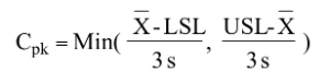 Capability Study metric Cpk