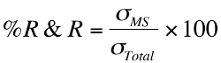 Formula for Gage R&R Percent R&R.